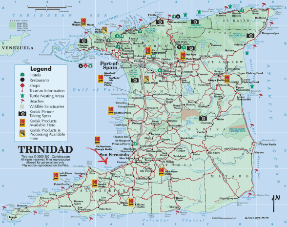 Trinidad Map-from caribbean-on-line.com