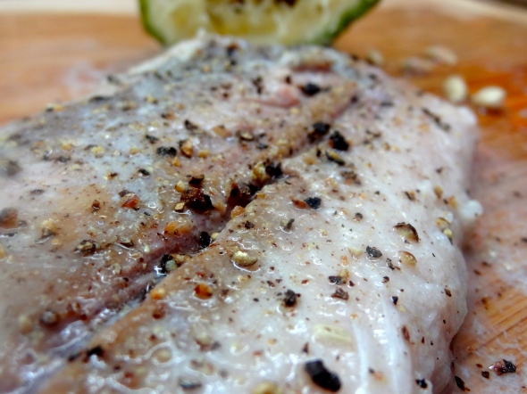 seasoned skin removed mahi mahi