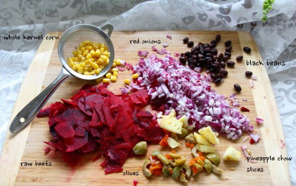 pineapple bean salad ingredients_1