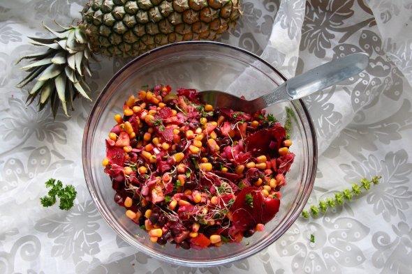 pineapple bean salad